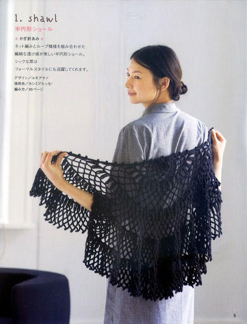 PATRONES GRATIS DE CROCHET: Patrón de un bello chal a crochet ...