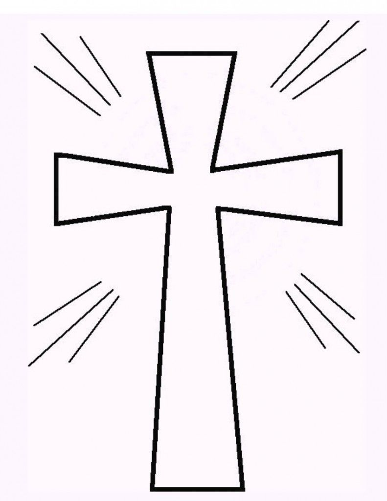 free printable cross coloring pages | free printable, sunday ... - Coloring Pages Jesus Cross