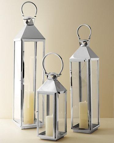 Classic Mogador Lantern Silver Lanterns Silver Candle Lanterns
