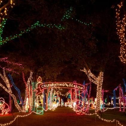prairie lights at lynn creek park grand prairie tx kids events