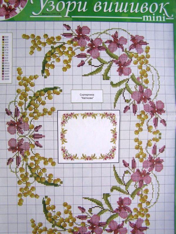 Uz 10 Cross Stitch Ukrainian Embroidery Pattern Tablecloth Napkin Vyshyvanka Cross Stitch Flowers Cross Stitch Embroidery Patterns