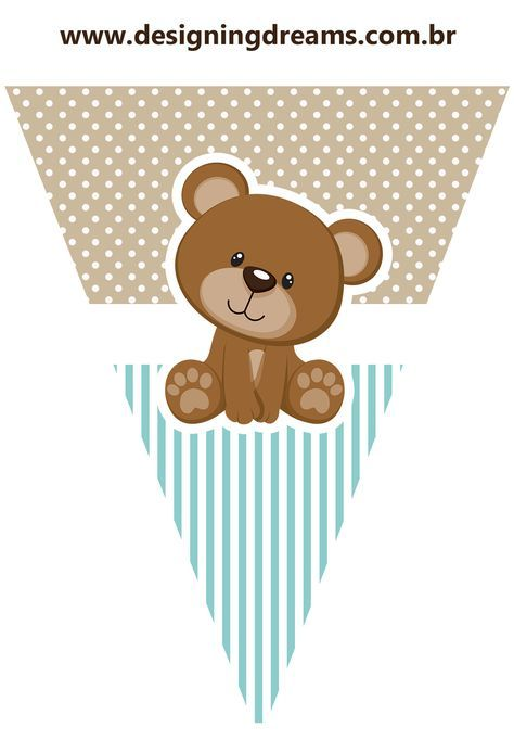Osito para Fiesta de Niño: Mini Kit para Imprimir Gratis. | Baby ...