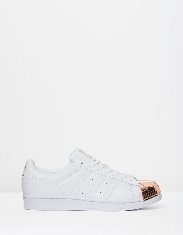 womens adidas superstar trainers gold stripe nz