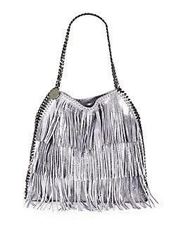 ab0a14c3b7d6 Stella McCartney - Baby Bella Metallic Fringe Shoulder Bag ...