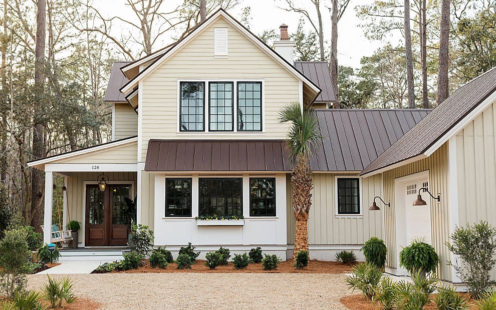 Best Brown Roof With Black Window Trim Brown Roof Houses Brown Roofs Metal Roof Houses 400 x 300