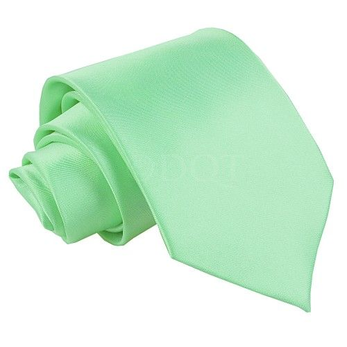Plain Mint Green Mens Tie #mensties #wedding #groom #ties #plainties #mensaccessories #mintgreen #green http://www.fabties.com/ties/plain-ties/plain-mint-green-tie.html