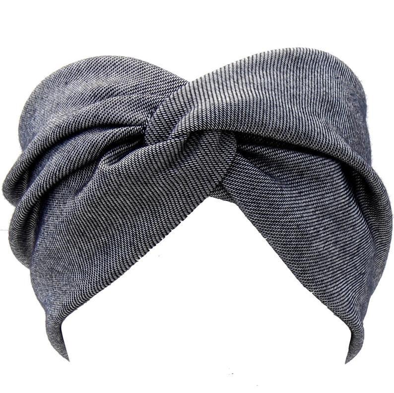 Denim Headband Hair Accessory For Women Gift For H