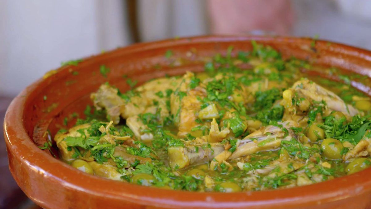 The hairy bikers make a moroccan chicken tagine with preserved lemon the hairy bikers make a moroccan chicken tagine with preserved lemon and green olives forumfinder Choice Image