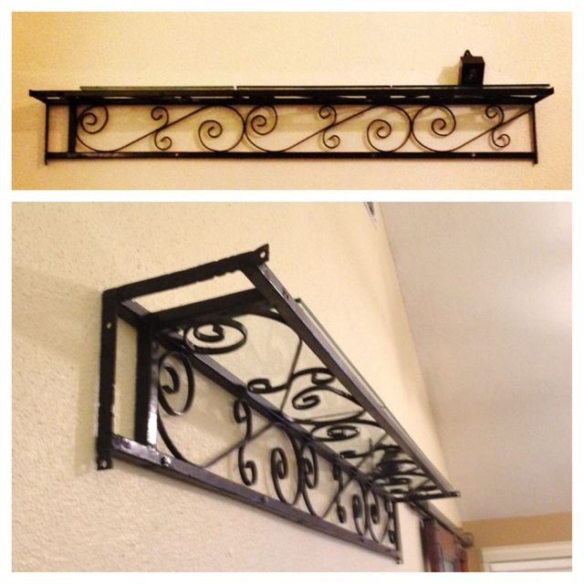 Reclaimed Wrought Iron Porch Support Up Cycled As A Shelf The