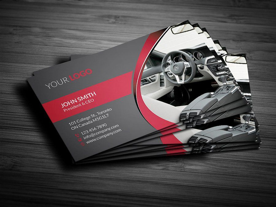 Rent A Car Business Card by RQ Designs on @creativemarket ...
