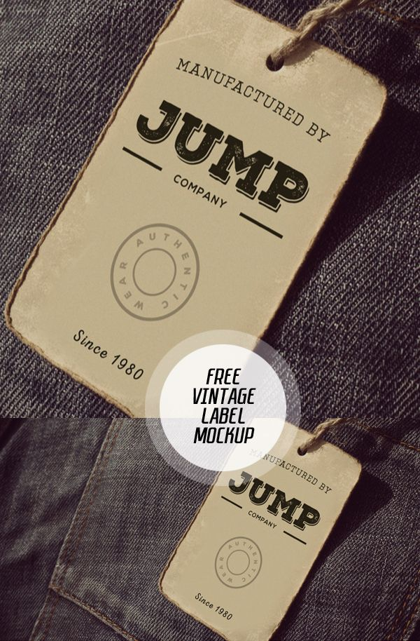 Free Clothing Label Mockup Psd  Free Stuff    Clothing