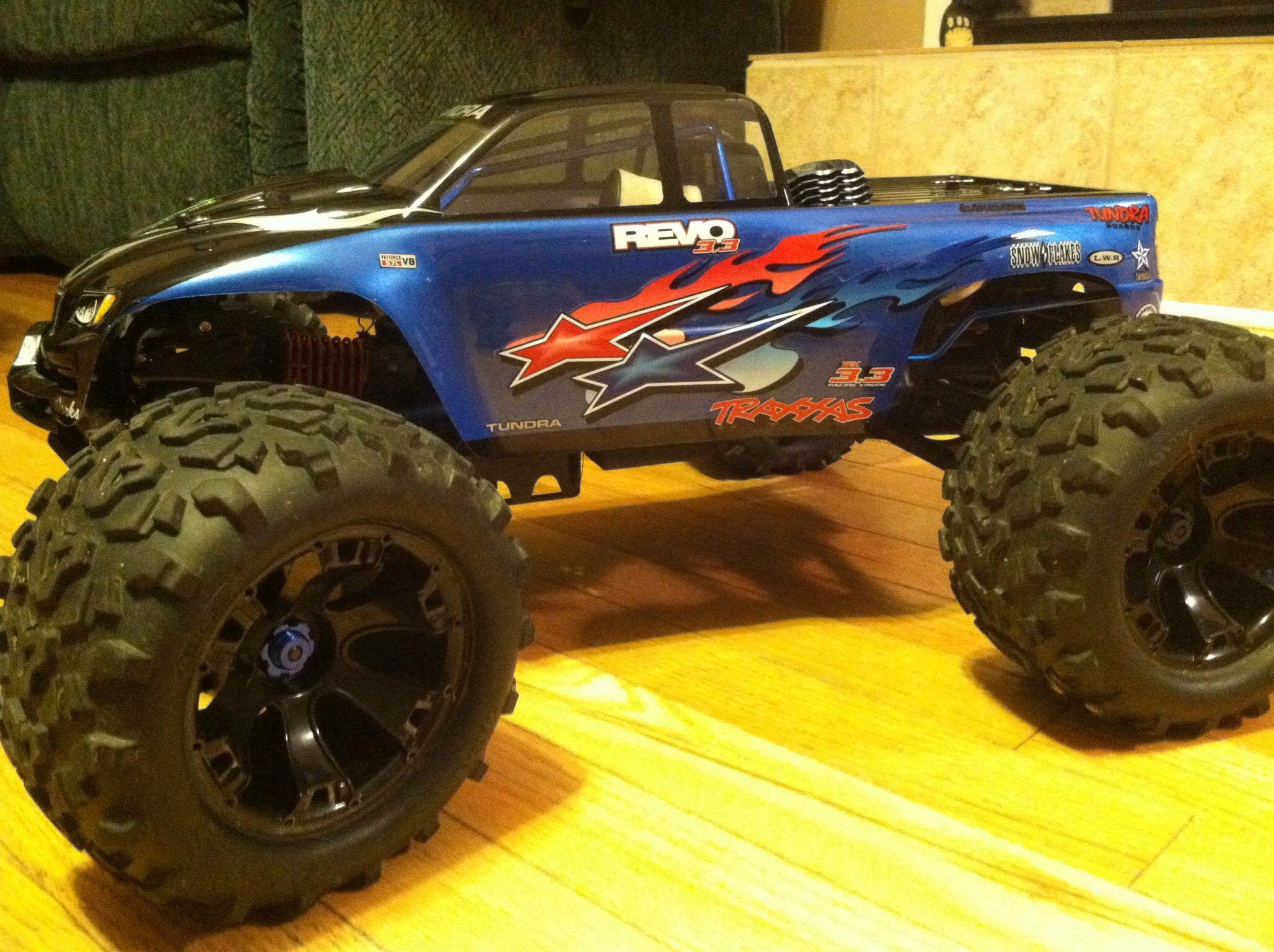 My Traxxas Revo 3 3 custom paint · Traxxas Rc