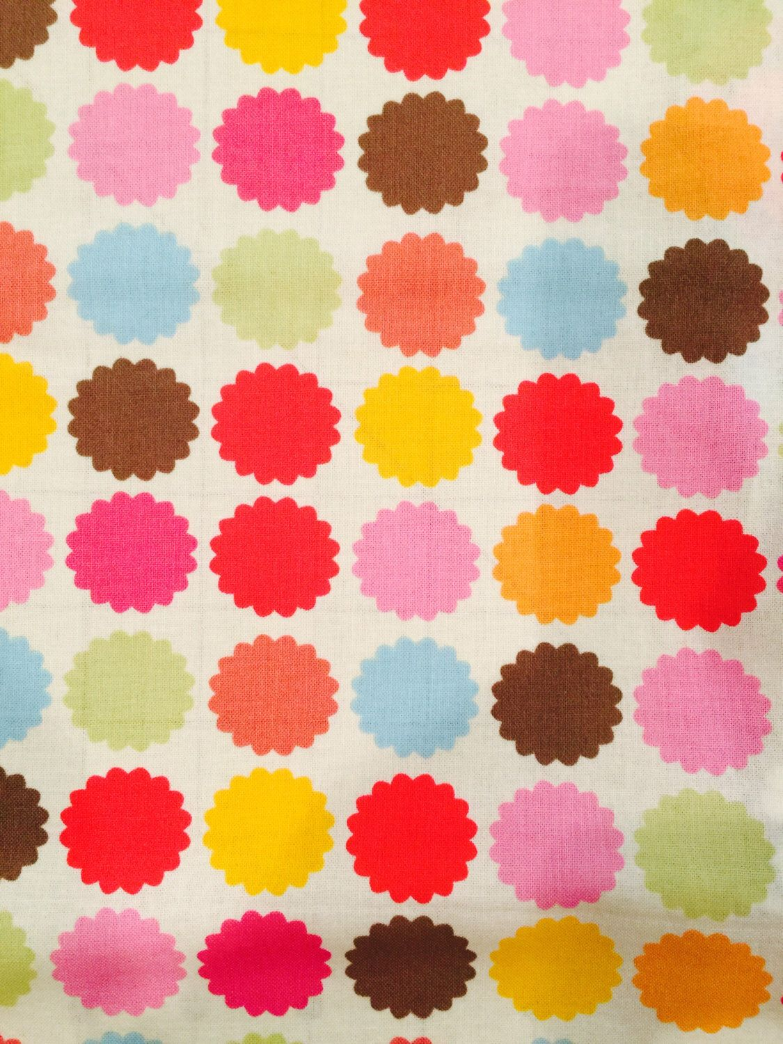 Brother Sister Design Studio Fabric Multi Color Dot Print Fabric
