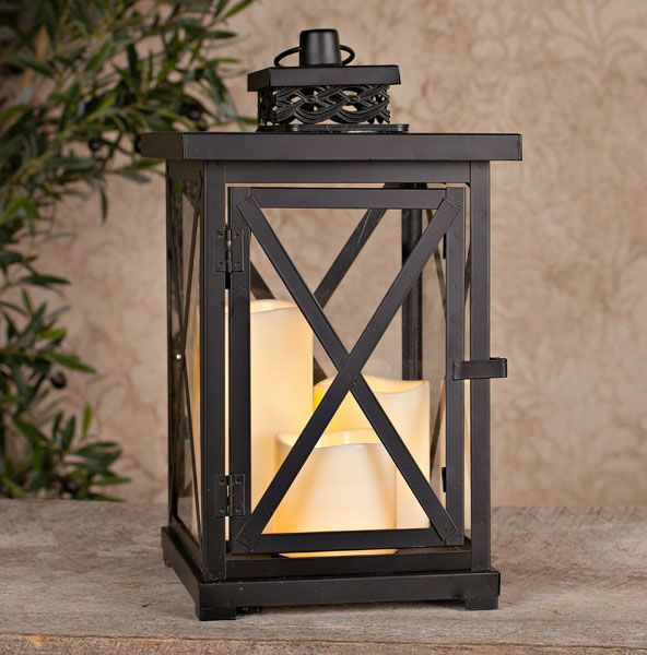 Check Out The Deal On Solar Powered Black Cross Bar Lantern With 3 Outdoor Candles 14 Inch At Solar Powered Lanterns Outdoor Candles Solar Lanterns