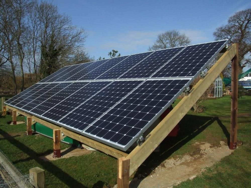 4kw mcs solar pv ground or floor mounted free standing