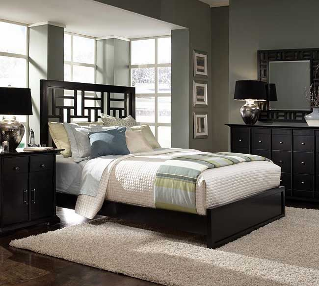 Beautiful The Broyhill Perspectives 4444 Panel Bedroom Set Is A Unique Grouping, With  Sleek, Streamlined Styling And Simple Geometric Silhouettes.