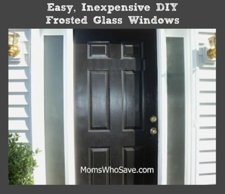 Diy frosted glass windows easy inexpensive