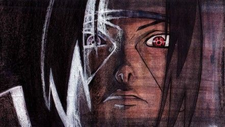 Naruto Shippuden Uchiha Itachi Sharingan Fan Art Wallpaper