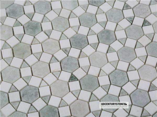 Honeycomb Marble Backsplash