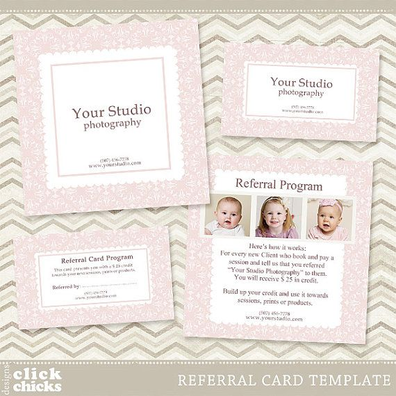 Photography Referral Card Template 5x5 Card Rep Card Etsy Card Templates Free Referral Cards Card Template