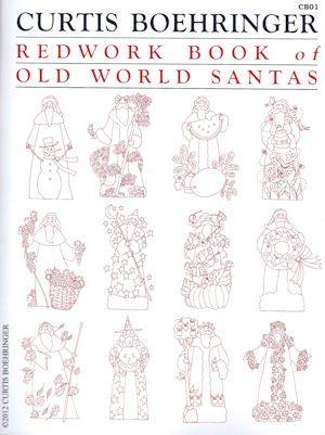 Old World Santa Quilt Patterns | Redwork Book of Old World Santas ...
