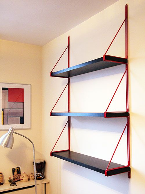 DIY string shelving