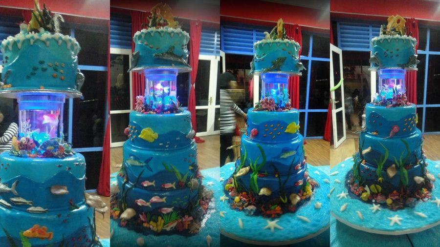 Under The Sea Theme Cake Sea Cakes Aquarium Cake Ocean Cakes