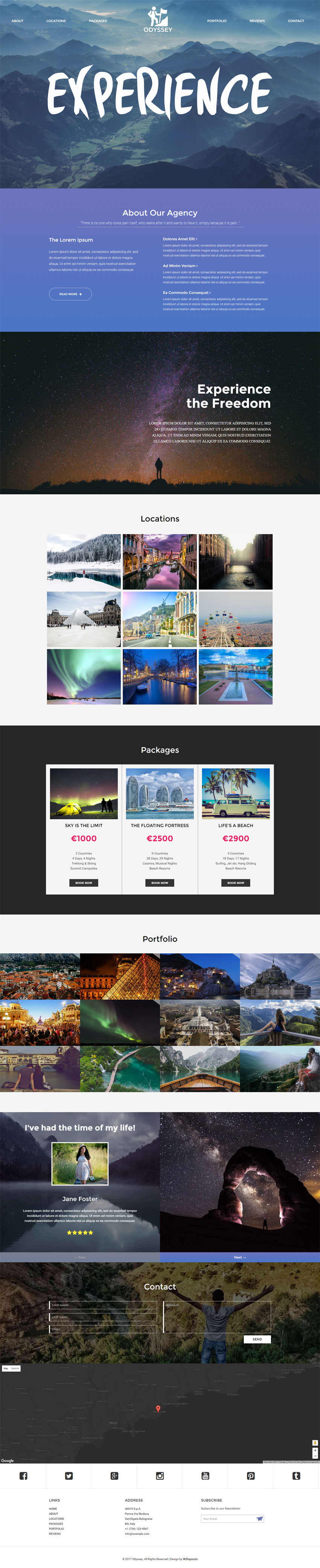 Odyssey a Travel Category Bootstrap Responsive Web Template | Free ...