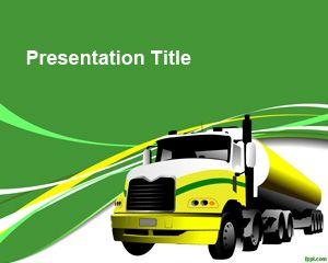 Green truck powerpoint template background for presentations on green truck powerpoint template background for presentations on transportation or logistics toneelgroepblik Images