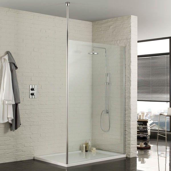 Aquadart Wet Room Walk in Shower Enclosure 1400