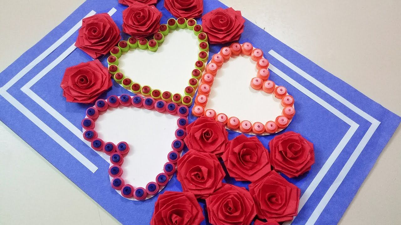 How To Make A Beautiful Three Heart Shaped Birthday Greeting Card