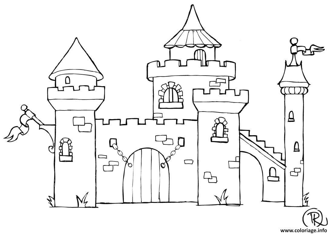 Coloriage Chateau A Imprimer Coloriage Chateau Dessin Chateau Coloriage