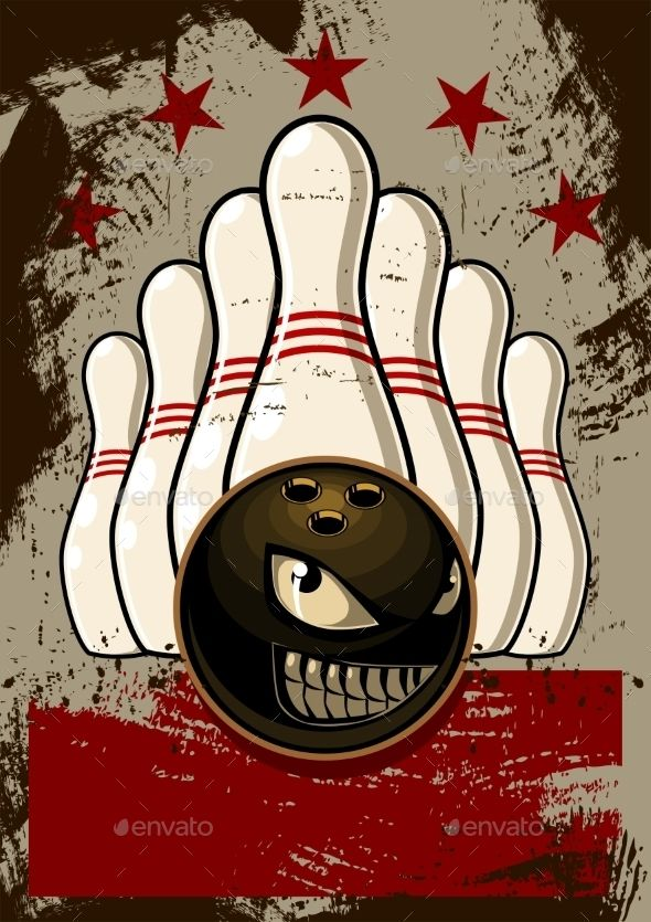 Bowling Mascot Icon illustrations, Scores and Banners - bowling flyer template free