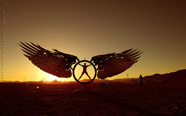 burning man art festival in nevada