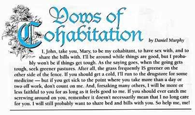 I Resented The Vows Of Cohabitation Image Because It Makes