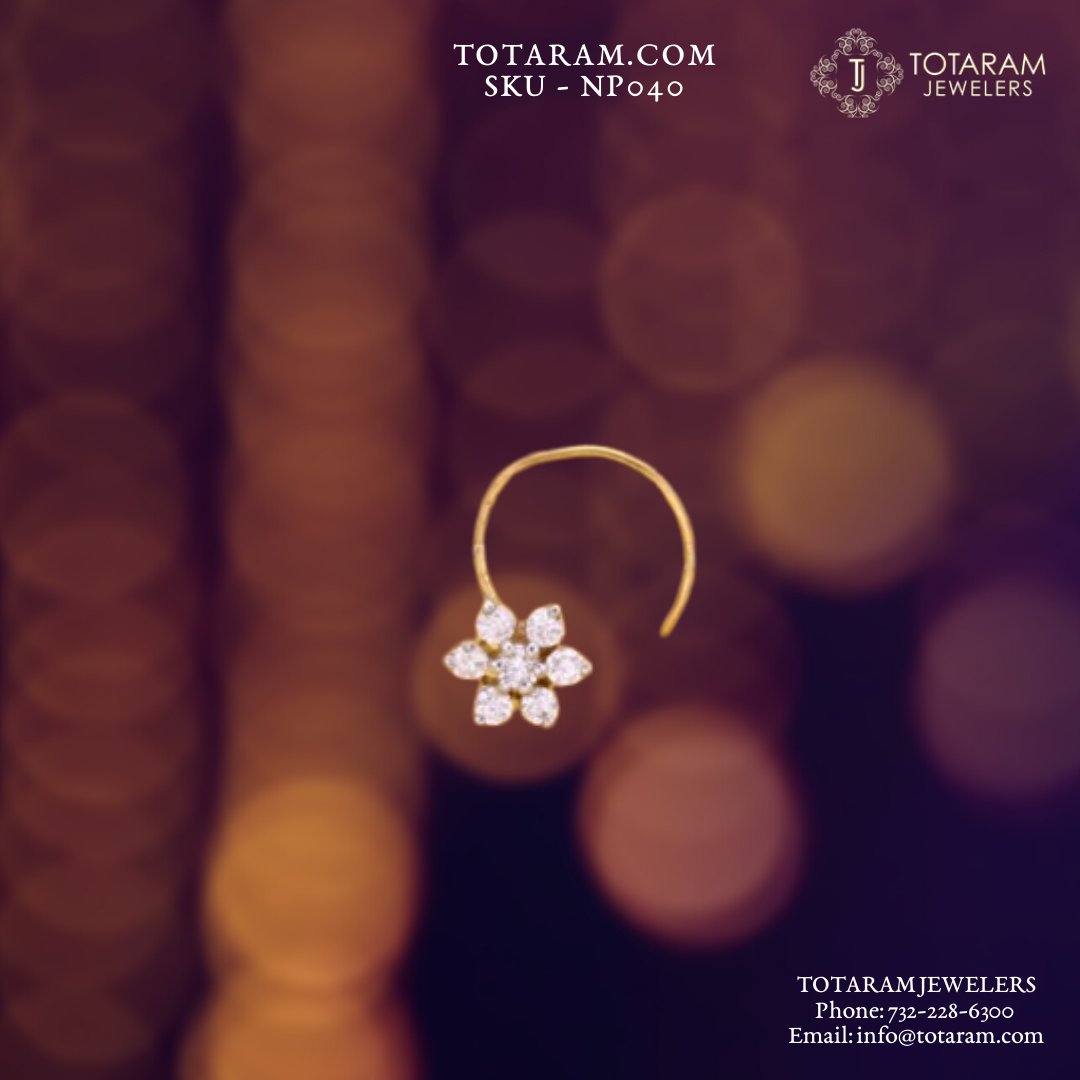 Give Yourself A Little Something Enjoy A New Nose Pin Nath From Our 22k Gold Jewelry Diamond Collection Diamond Jewelry Gifts Diamond Nose Ring Nose Jewelry