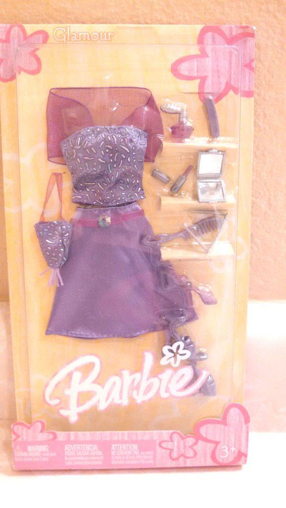 *BARBIE DRESS* PURPLE RUFFLED TOP BLACK SKIRT