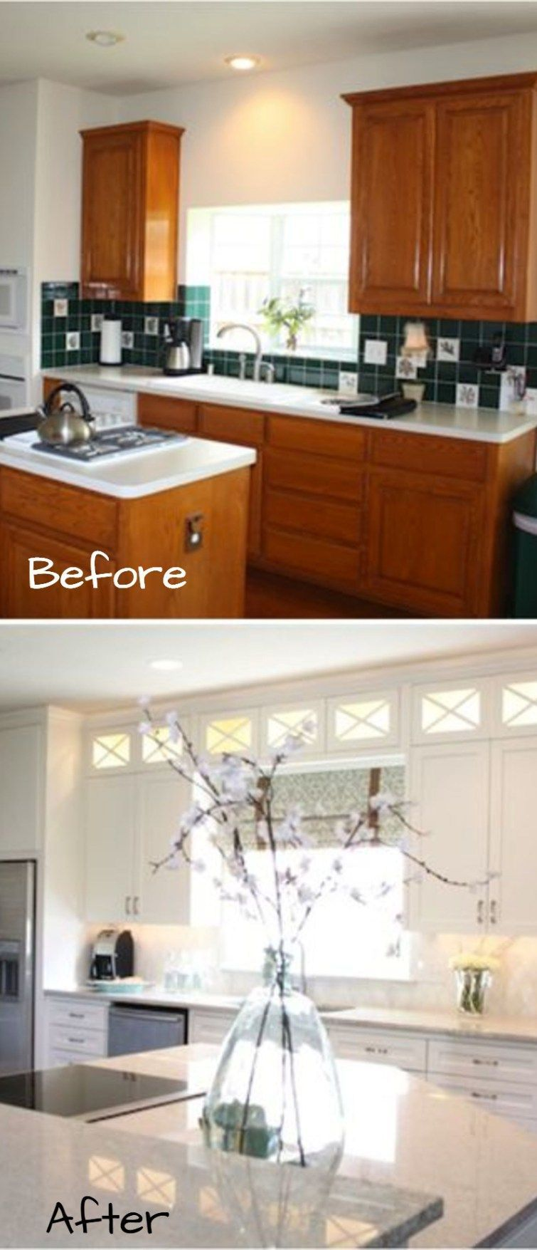 Small kitchen remodel before and after pictures of small