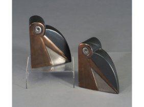 147: Pair of fine and rare COWAN Art Deco tou : Lot 147