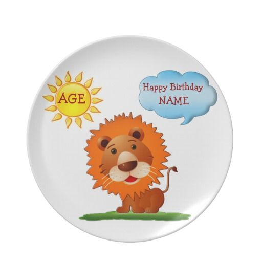 Personalized Birthday Plates for Kids Name & AGE.  Personalized first birthday gifts.  Baby and Kids Stuff. Cute Birthday Shirts for Boys and Girls, First Watch for Kids, Aprons, Personalized Pacifiers and more. See More Personalize Baby Gifts and Customizable Kids Stuff CLICK HERE: http://www.zazzle.com/littlelindapinda/gifts?cg=196511388019813664&rf=238147997806552929*/     ALL of Little Linda Pinda Designs CLICK HERE: http://www.Zazzle.com/LittleLindaPinda*/