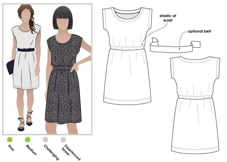 Olivia Dress | Costura, Ropa bonita y Molde