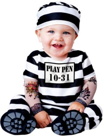 Baby Time Out Prisoner Costume | Wholesale Prisoner Costumes for Infants & Toddlers