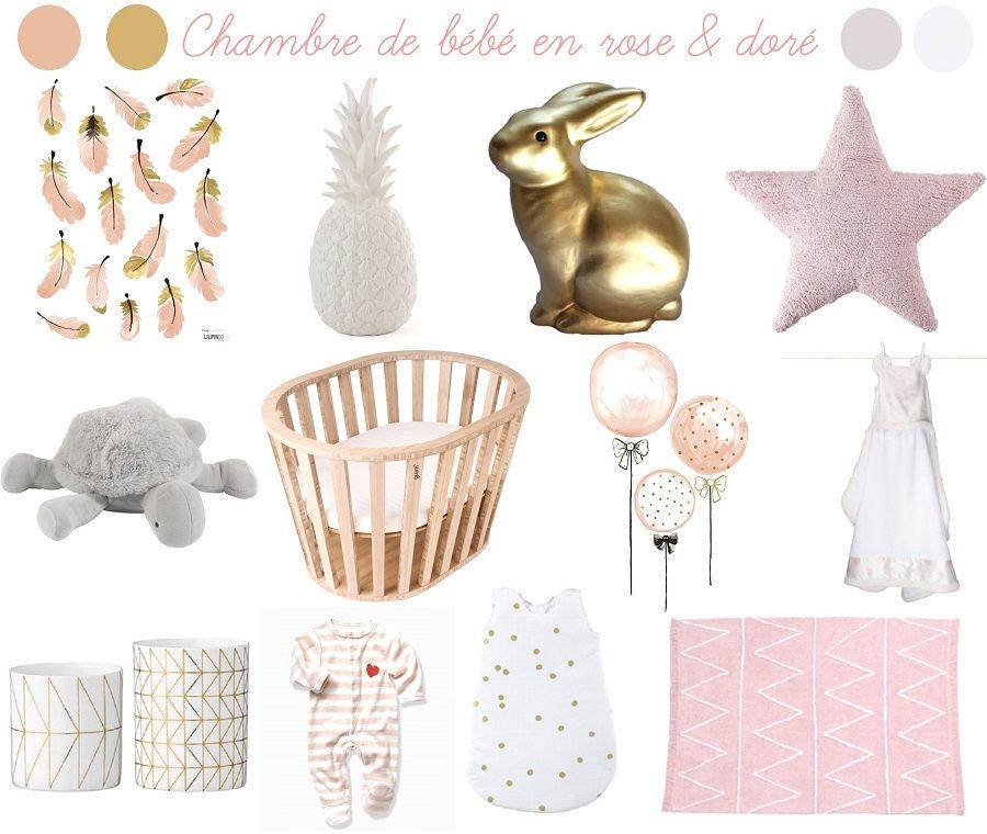 Inspiration Chambre De Bebe En Rose Et Dore Chambre Bebe Rose