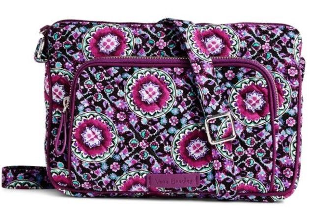 57dfb840d5 Vera Bradley Iconic RFID Little Hipster in Lilac Medallion