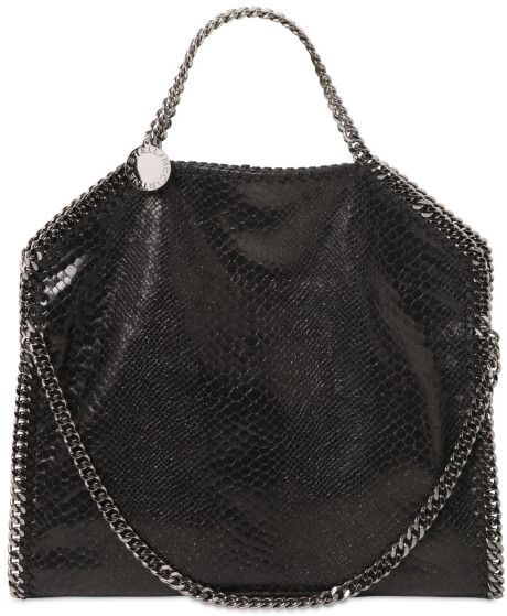 Stella Mccartney 3chain Falabella Faux Alter Python Bag in Black 5f94a3b2e36b7
