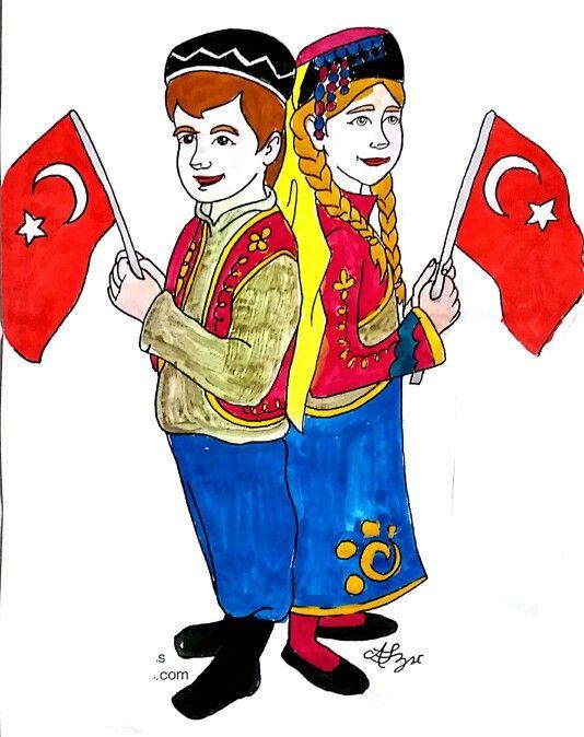 23 Nisan Türk çocukları Belirli Gün Ve Haftalar Pinterest