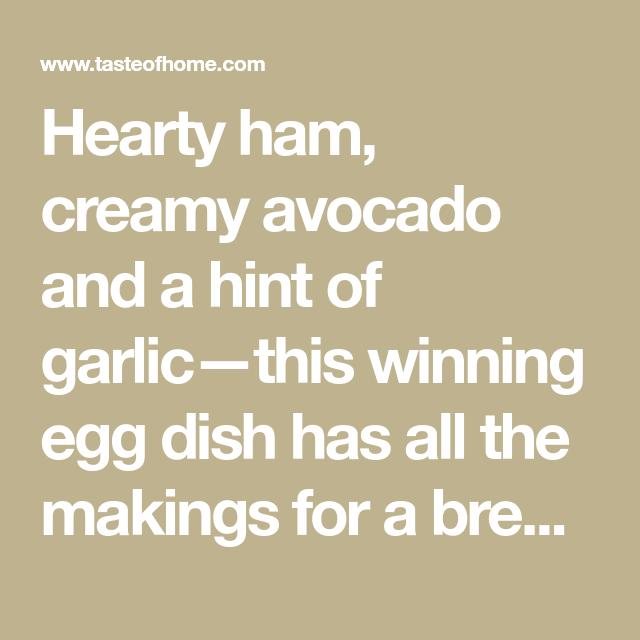 Ham And Avocado Scramble Recipe: Ham And Avocado Scramble