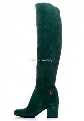 Buty Baldowski Zielone Zamsz Dlugie Kozaki Wz 1828 6569474530 Oficjalne Archiwum Allegro Boots Knee Boots Over Knee Boot