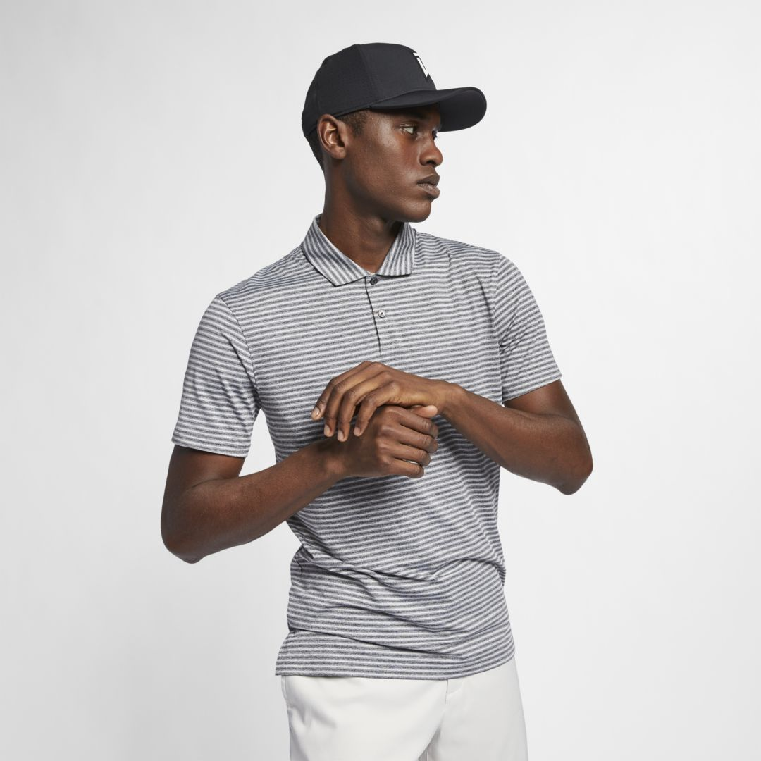 621770010 Nike Dri-FIT Tiger Woods Vapor Men's Striped Golf Polo Size 2XL (Black)