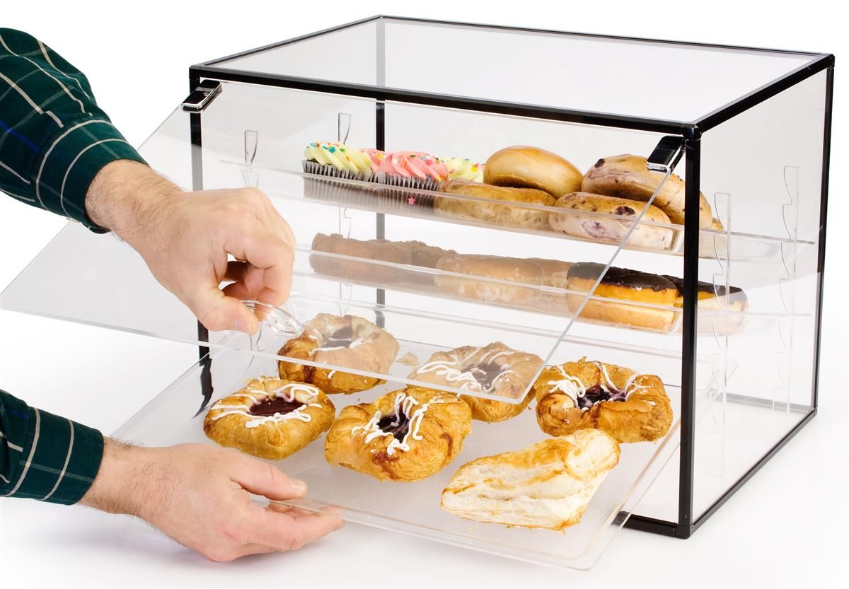 Countertop Bakery Display With Hinged Door And Removable Shelves Bakery Display Case Bakery Display Food Display